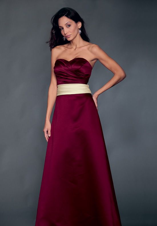 Burgundy and gold bridesmaid dresses for Burgundy and gold wedding dress