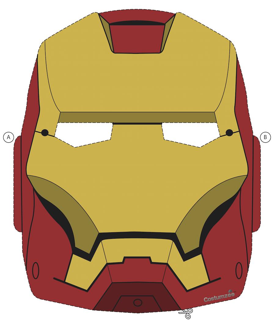 Printable Halloween Masks Printable Halloween Masks Iron Man Mask Halloween Masks