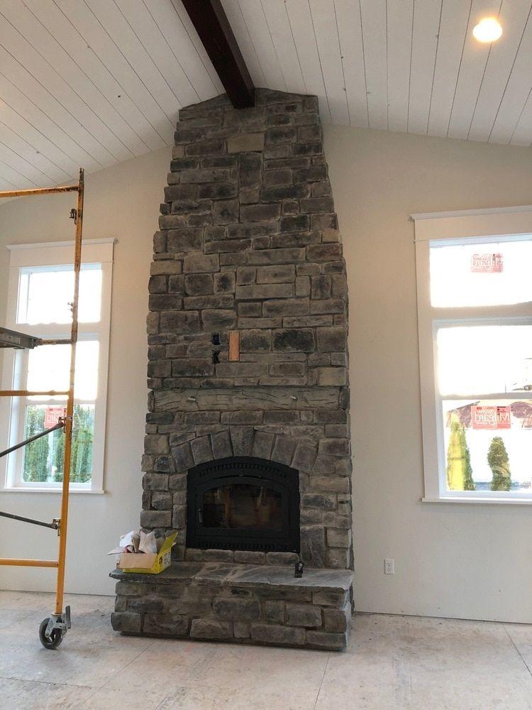 Limestone Fireplace Stone Fireplace Mantel Brick Fireplace Wall
