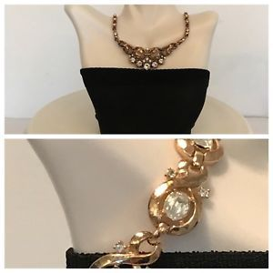 Vintage Designer Costume Jewelry Trifari Rhinestone Necklace