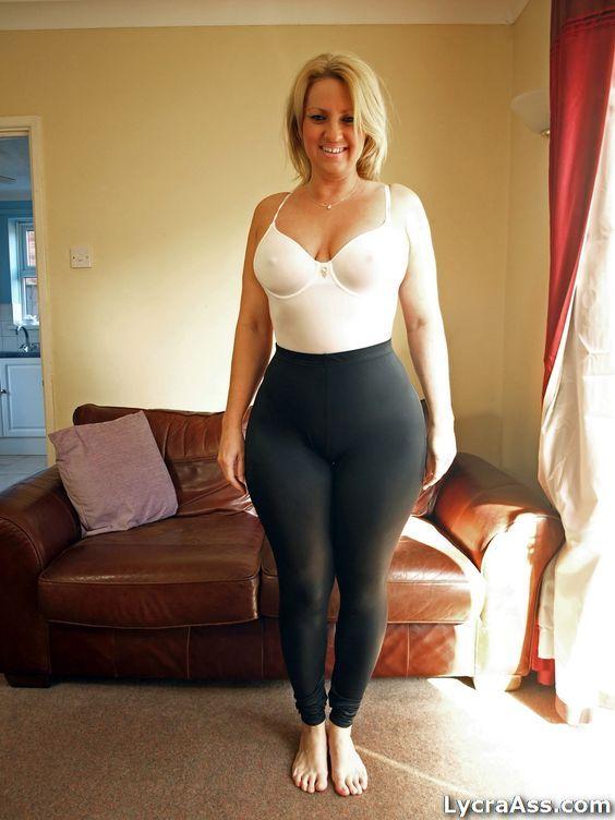 leggings Mature bbw