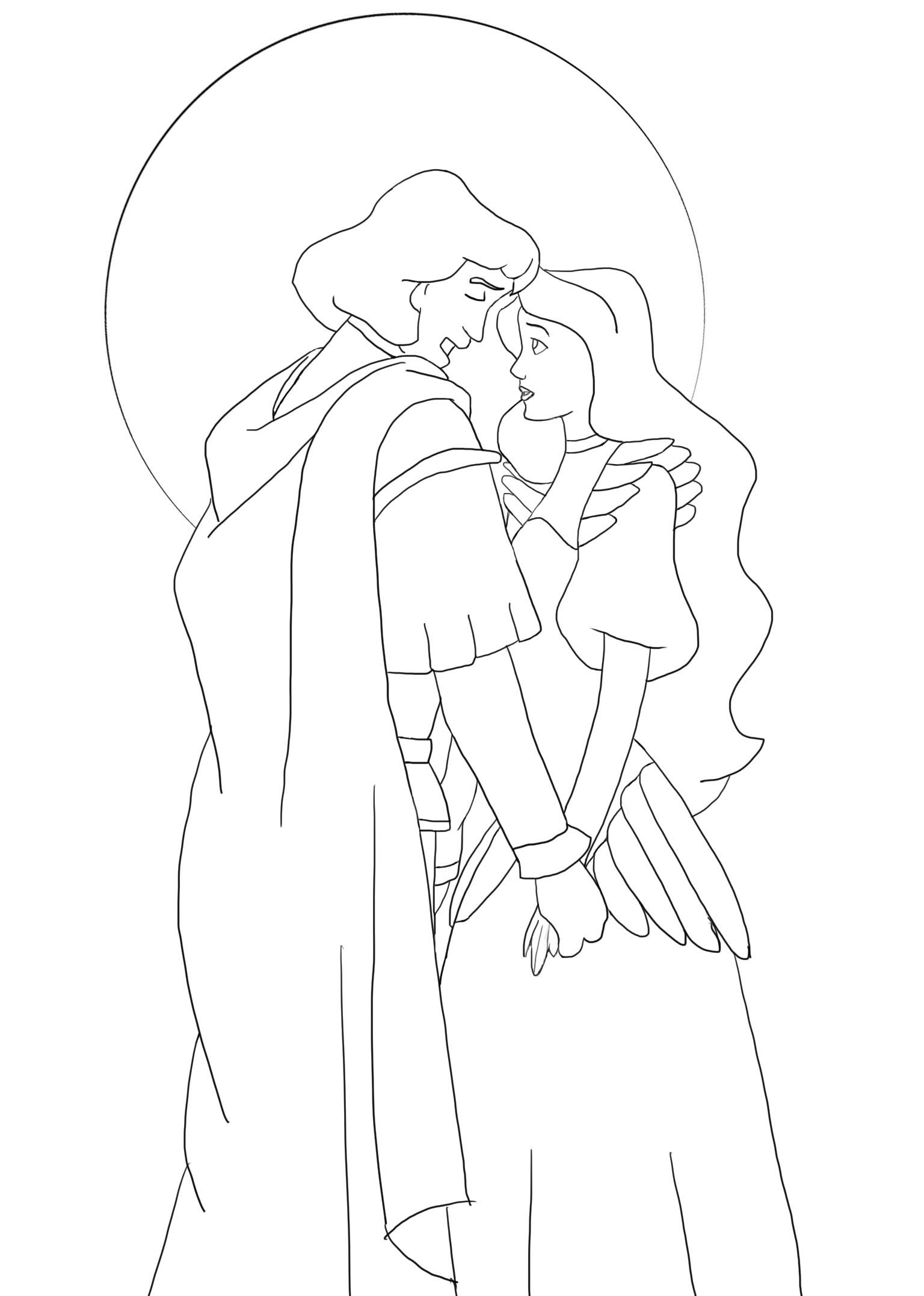 Swan princess coloring pages free - Odette Swan Princess Coloring Pages