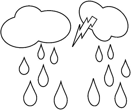 Bulut Boyama Ve Yagmur Damlasi Boyama Sayfasi 1 Yagmur Boyama