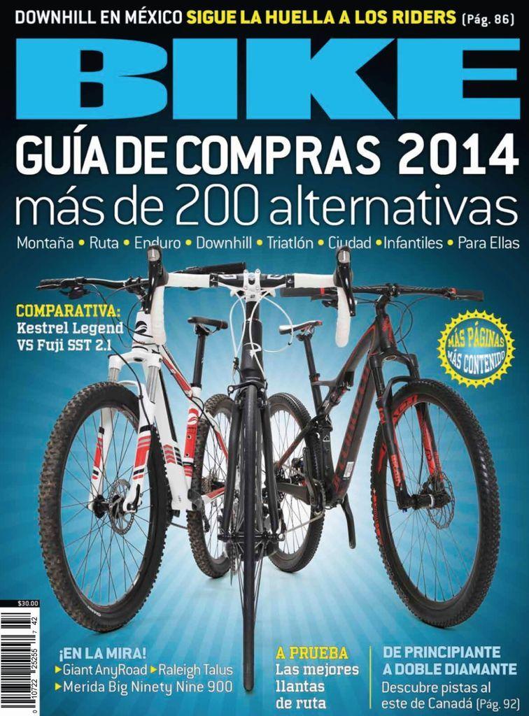 Bike es una revista especializada para aquellos que aman el deporte de las dos ruedas o quienes estén interesados en entrar en este fascinante mundo. Está llena de recomendaciones y pruebas o evaluaciones a las bicicletas más nuevas del mercado hechas por un equpo de expertos.