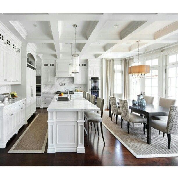 White Kitchen Inspiration  Kitchen Dining Combo Huge Kitchen And Amazing Combined Kitchen And Dining Room Decorating Inspiration