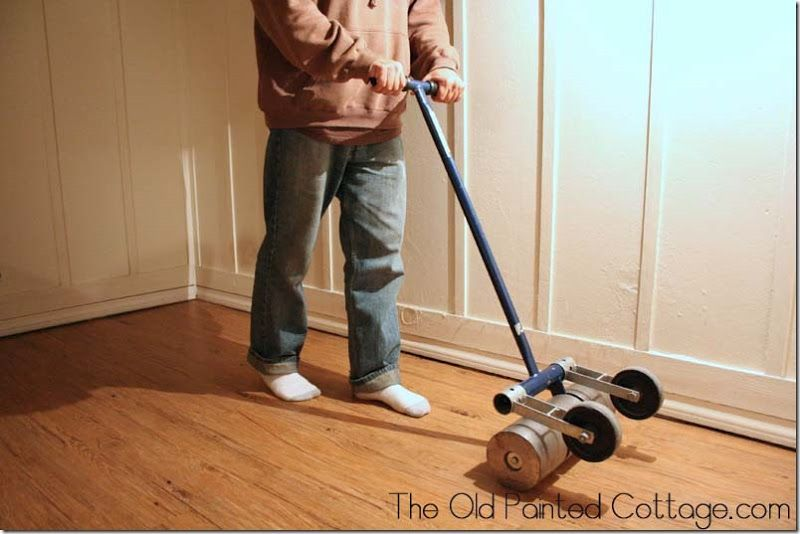 That 39 s a 100 lb floor roller which you can rent by the - Can you use laminate flooring in a bathroom ...