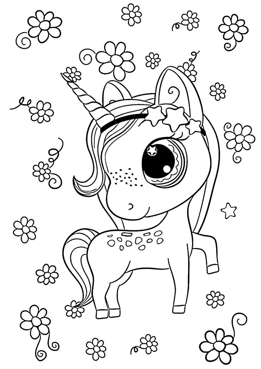 In The Cloud Of Daisies High Quality Free Coloring From The Category Unicorn More Printable Pict Unicorn Coloring Pages Coloring Pages Super Coloring Pages