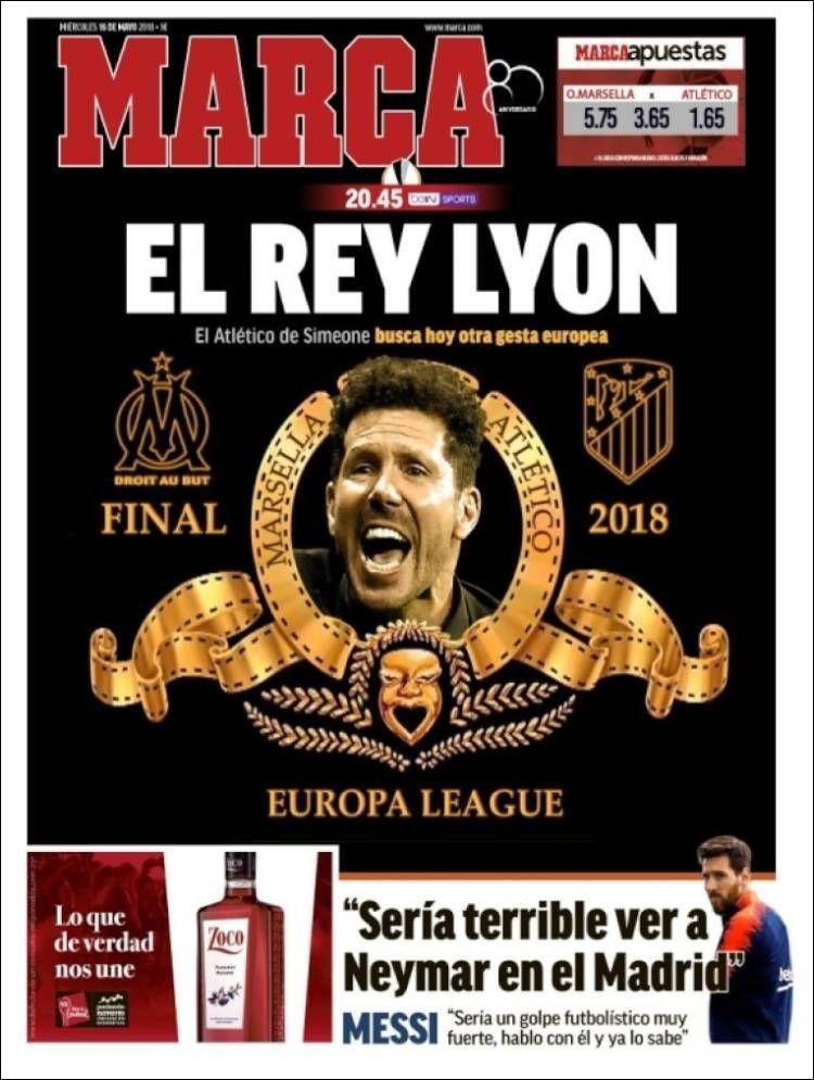 20180516 Portada de Marca (España) Periodicos de