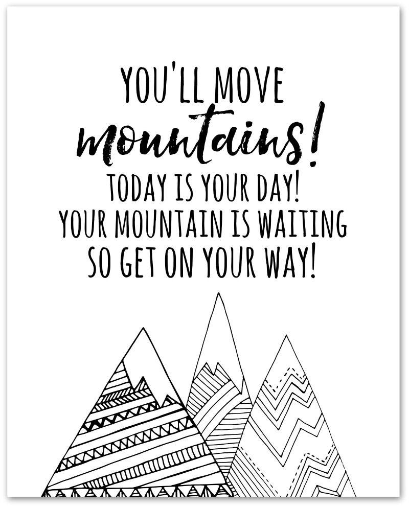You'll Move Mountains Dr. Seuss Printable