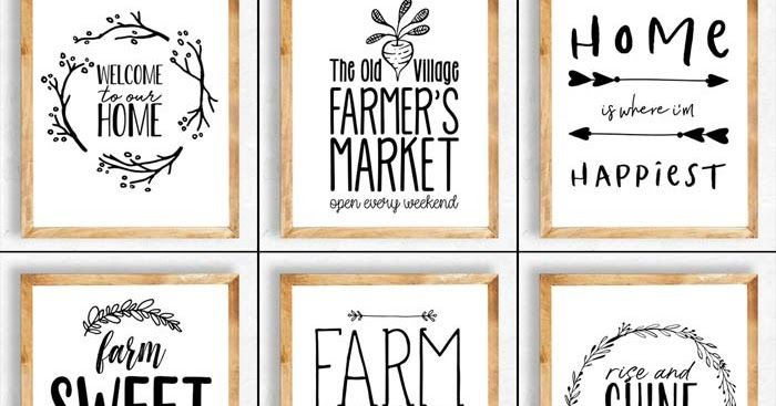 11 farmhouse printables farmhouse printables blessed printable black and white prints on farmhouse kitchen quotes free printable id=62875