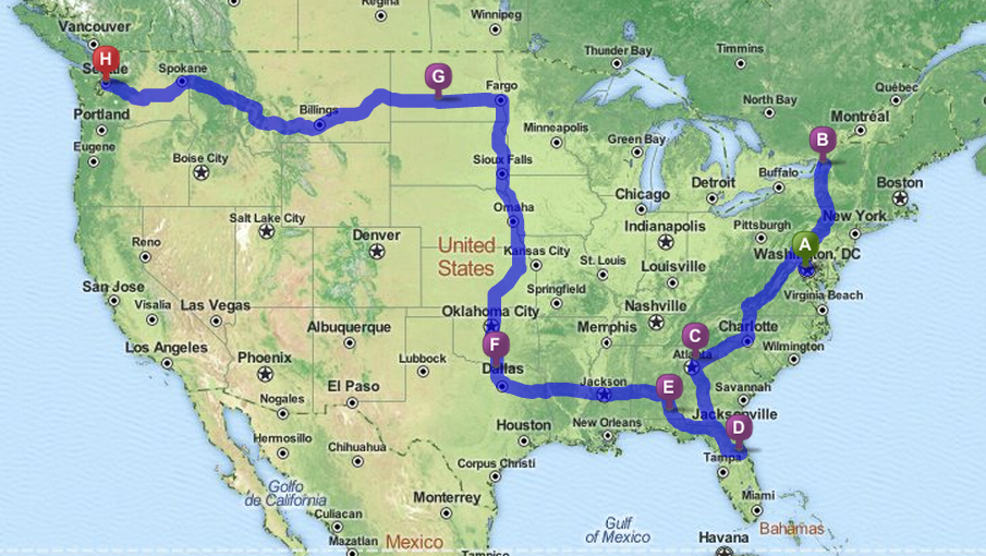 Road Trips Botr Route Map