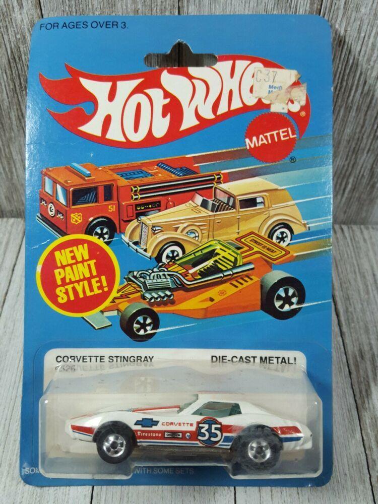 Hot Wheels Corvette Stingray 1982 Blackwall Bw Moc White Chevrolet Chevy Hotwheels Chevrolet Corvette Stingray Vintage Toys For Sale Hot Wheels