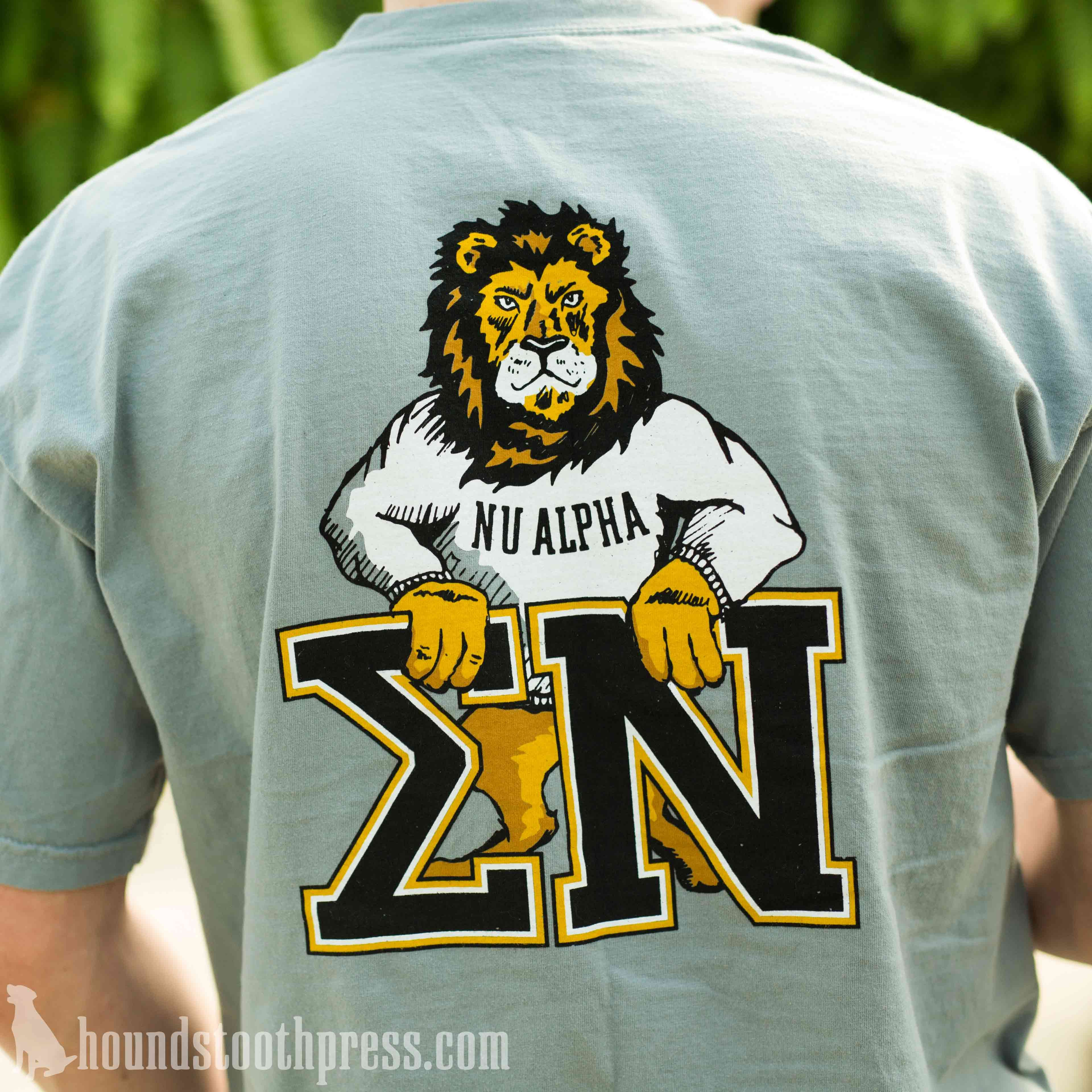 Sigma nu lion t shirt lovethelab for Southern fraternity rush shirts