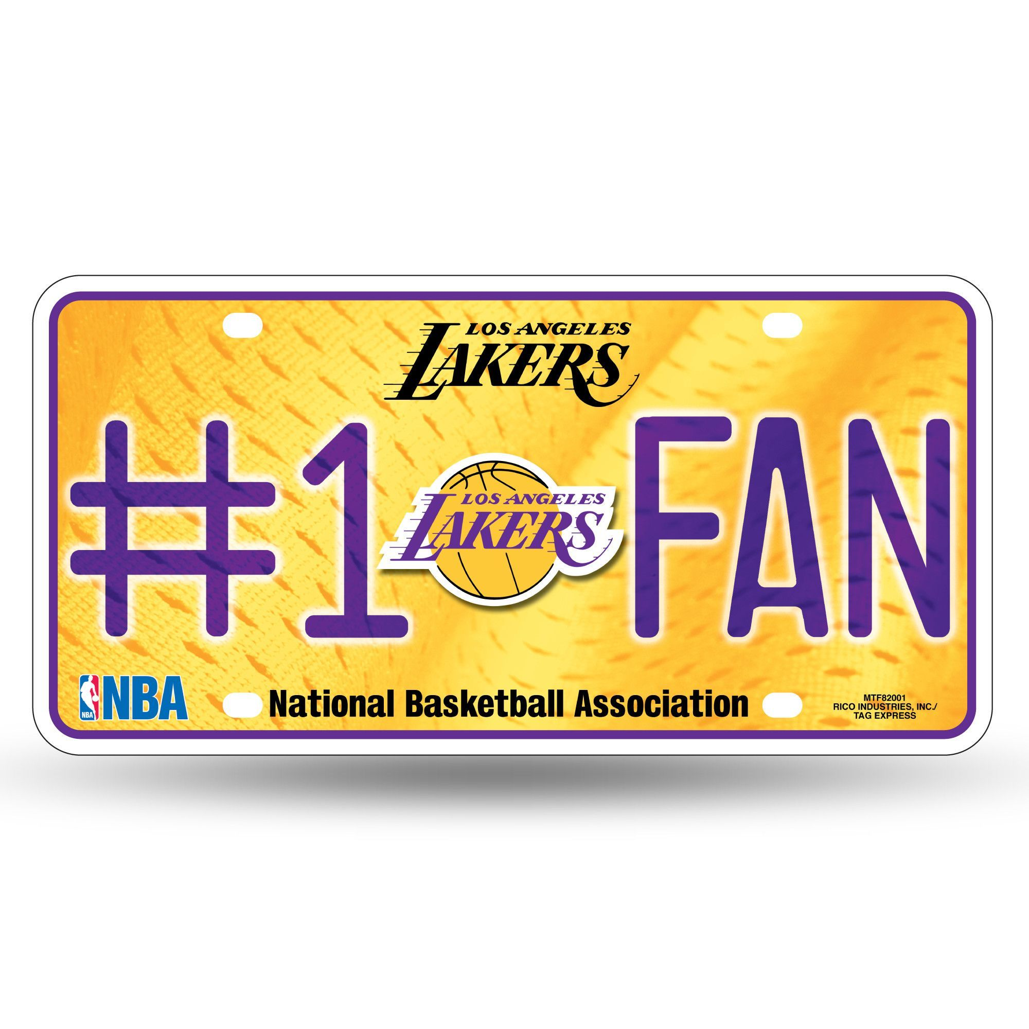 Lakers NBA Metal License Plate 1 FAN (With images) Los
