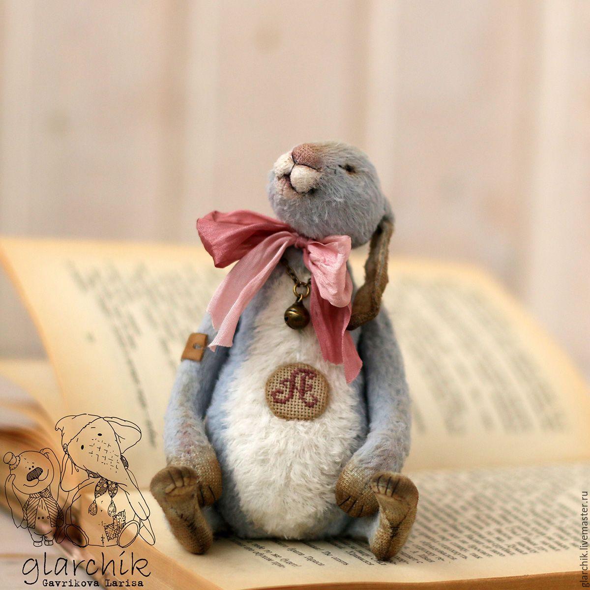 Купить Кролик Алько - голубой, кролик, кролик тедди, коллекция, коллекционная игрушка, друзья тедди