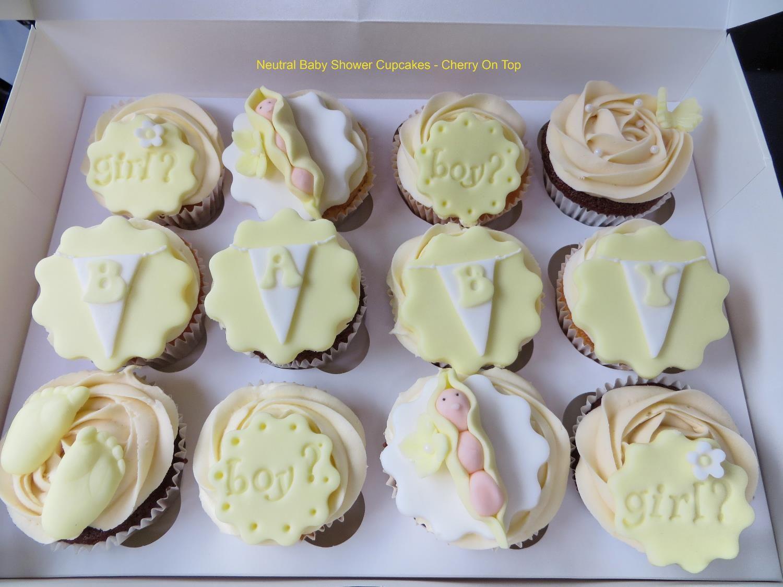 Neutral Baby Shower cupcakes Cupcake ideas Pinterest ...