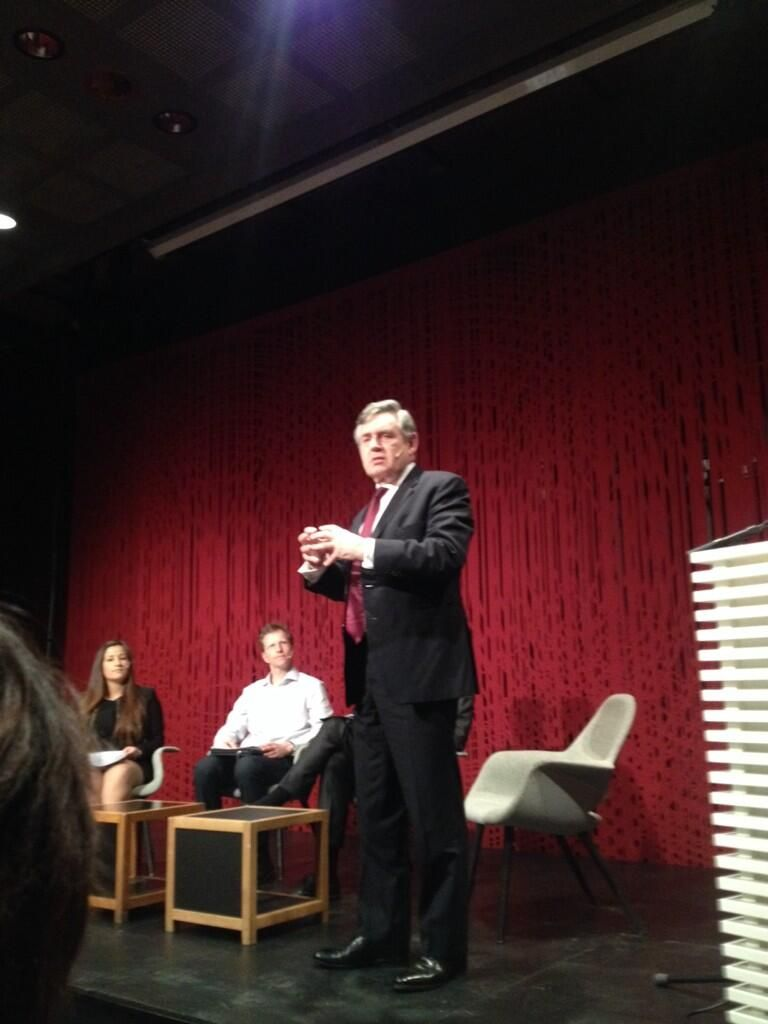 """Kristine Sevik on Twitter: """"Gordon Brown: education 4 children in refugee camps offer hope that there is something to plan for. #education4all http://t.co/Vxme0NEl4H"""""""