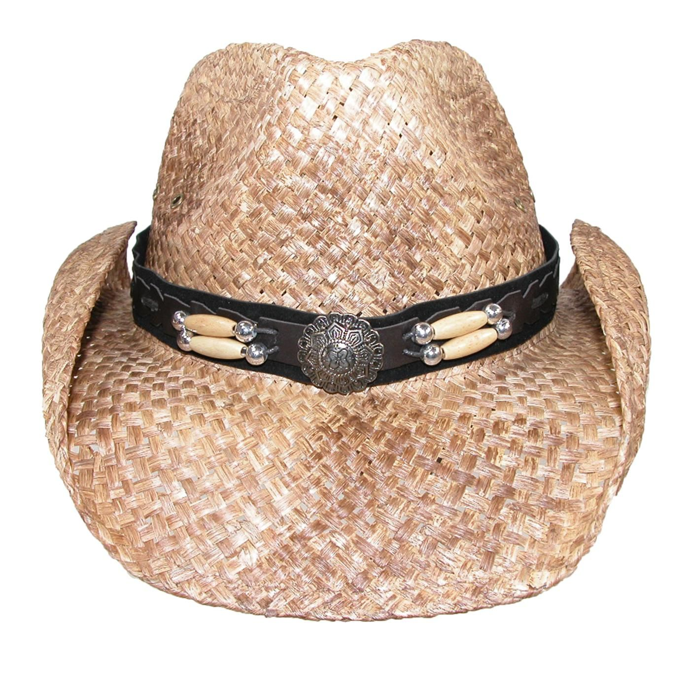 4225e2d432b Peter Grimm Western Straw Hat with CTM® Concho Hat Band. Removable hat  band. One size fits most $29.95