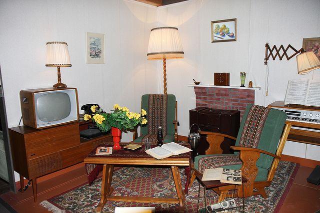 Huiskamer jaren 39 60 dingen van vroeger vanaf 1956 for Interieur 70 jaren