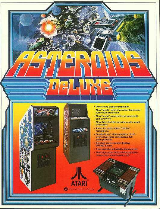 Asteroids Deluxe Vintage Video Games Arcade Juegos Retro Juegos