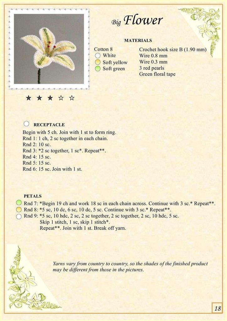 The Book of Crochet Flowers 1_8.jpg | crochet flowers | Pinterest ...