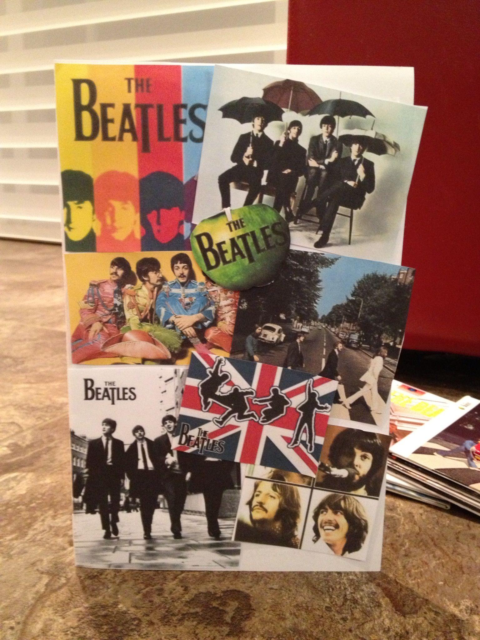 Home Made Beatles Birthday Card Beatles Birthday Dad Birthday Birthday Cards