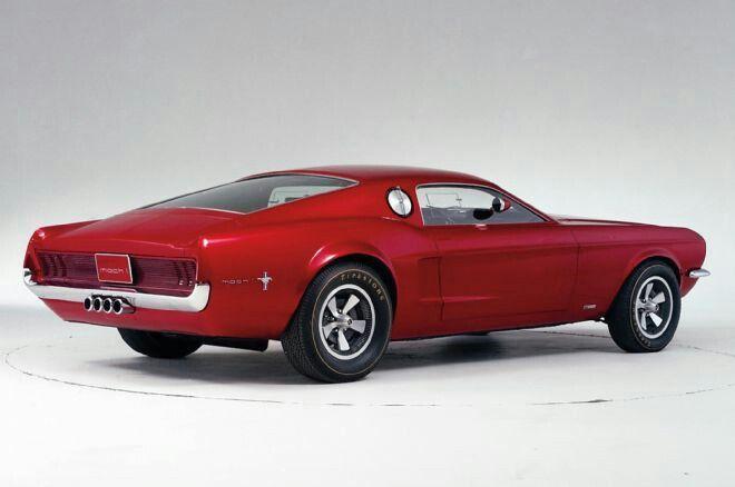 Rear View Of 1967 Auto Show Mach 1 Concept Car Concept Cars