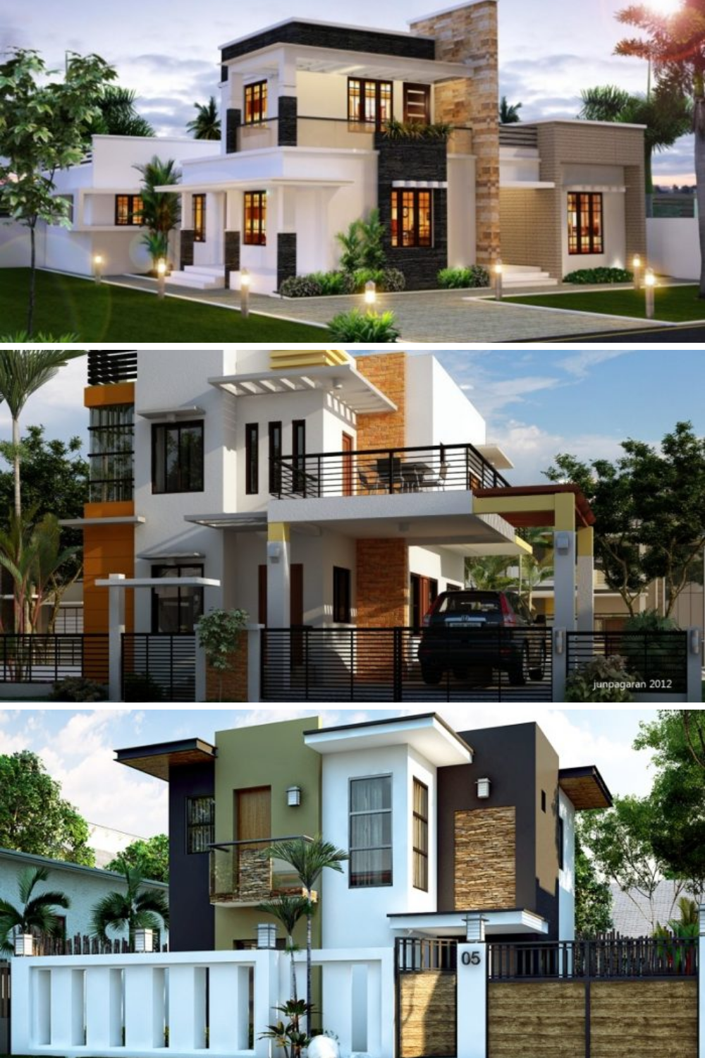 Two Story Small Home With Three Bedrooms In 2020 Philippines House Design Model House Plan Small House