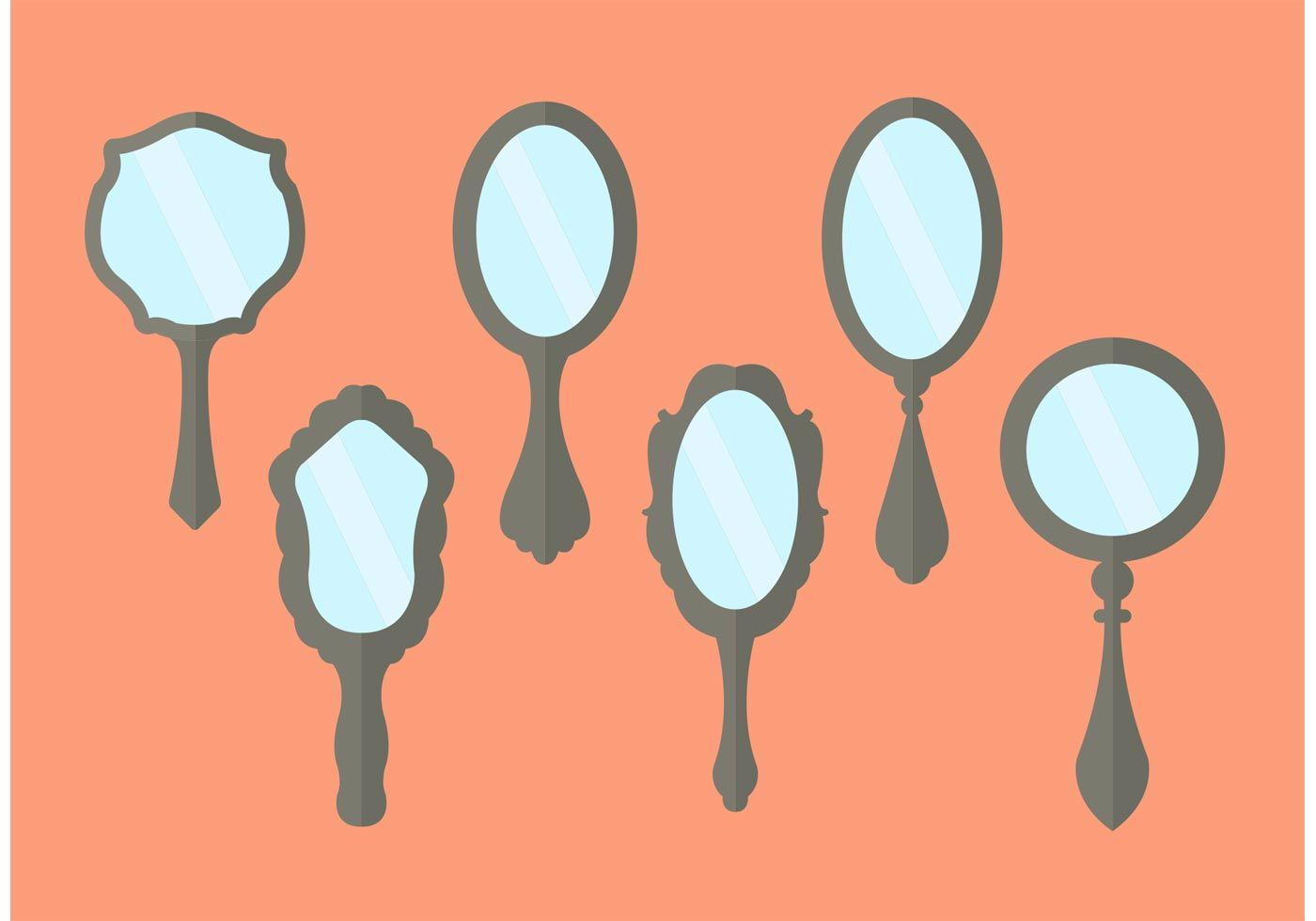 Vintage hand mirror stock image. Image of ancient, isolated - 29818867