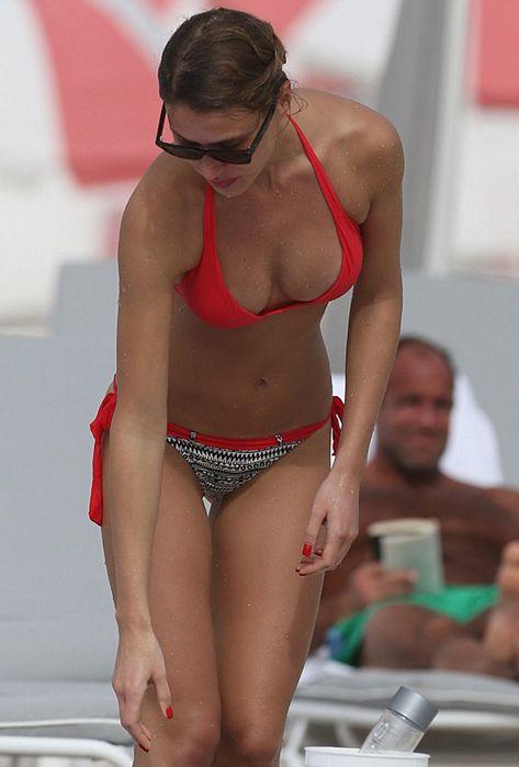 Hot bikini bent over photo
