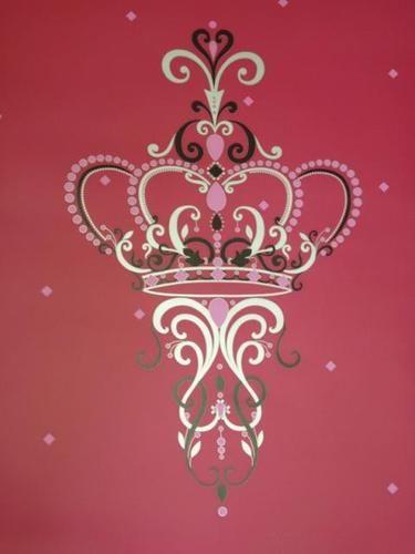 3 X Rolls Bright Pink Chandelier Royal Wallpaper 30m Crown M0530 Black Silver