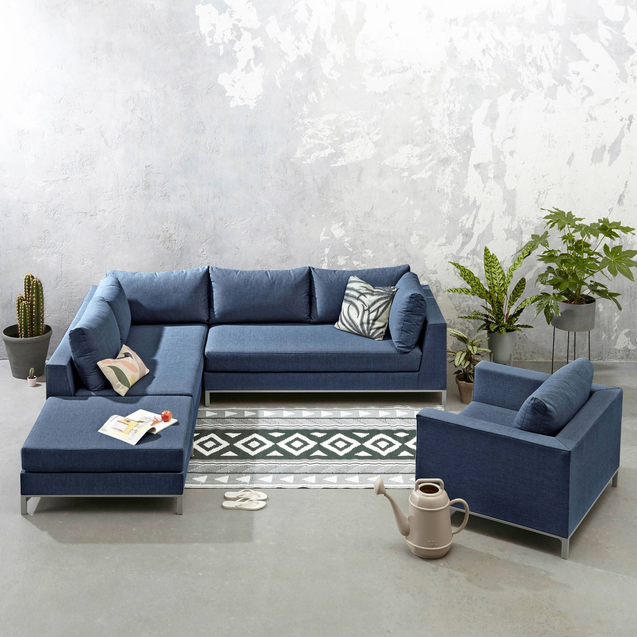 Loungeset Hoekbank Fauteuil.Exotan All Weather Loungeset Links Met Fauteuil Mijn