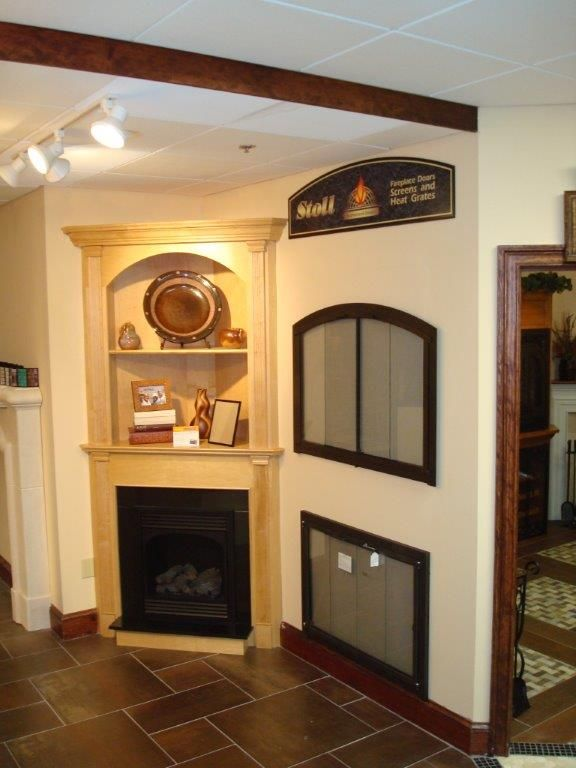 American Hearth 24 Vent Free Vail Series With Custom Maple Corner