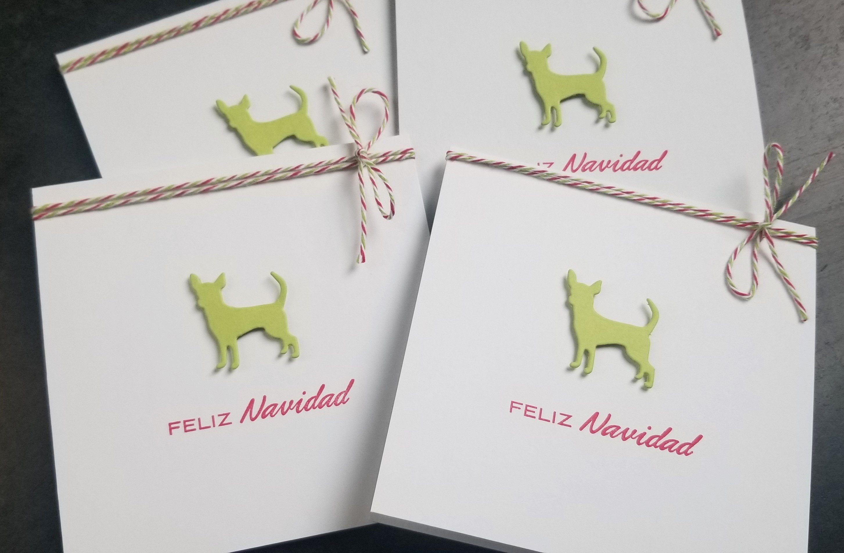 Feliz navidad cards set of 4 spanish christmas cards