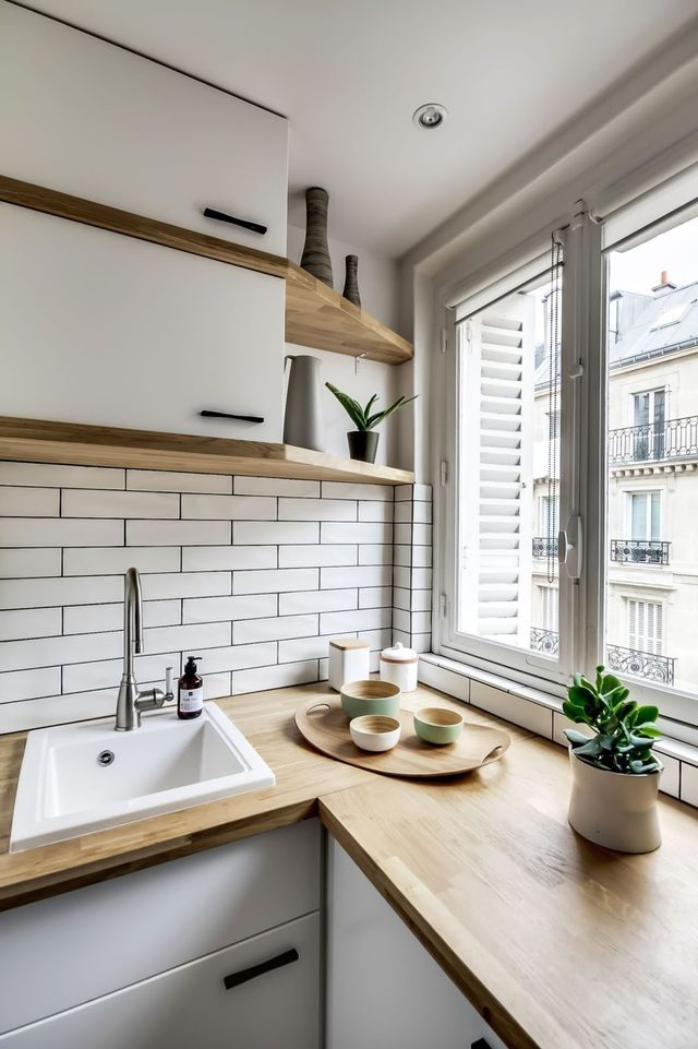 tiny parisian apartments usually have small kitchens that look