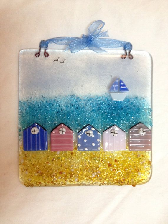 Tiddly om Pom Pom Fused Glass Picture by BlueFairyDesigns on Etsy, £21.95
