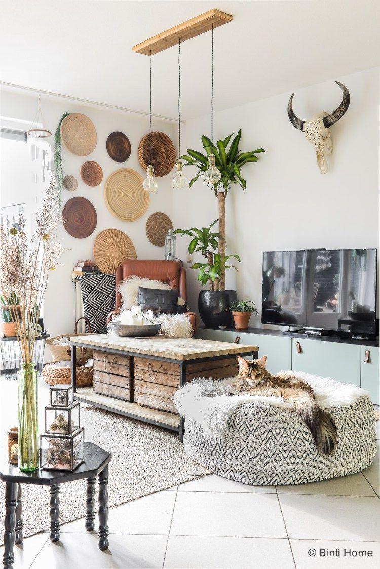 Binnenkijken bohemian interieur met persoonlijke DIY\'s   Wohnraum ...