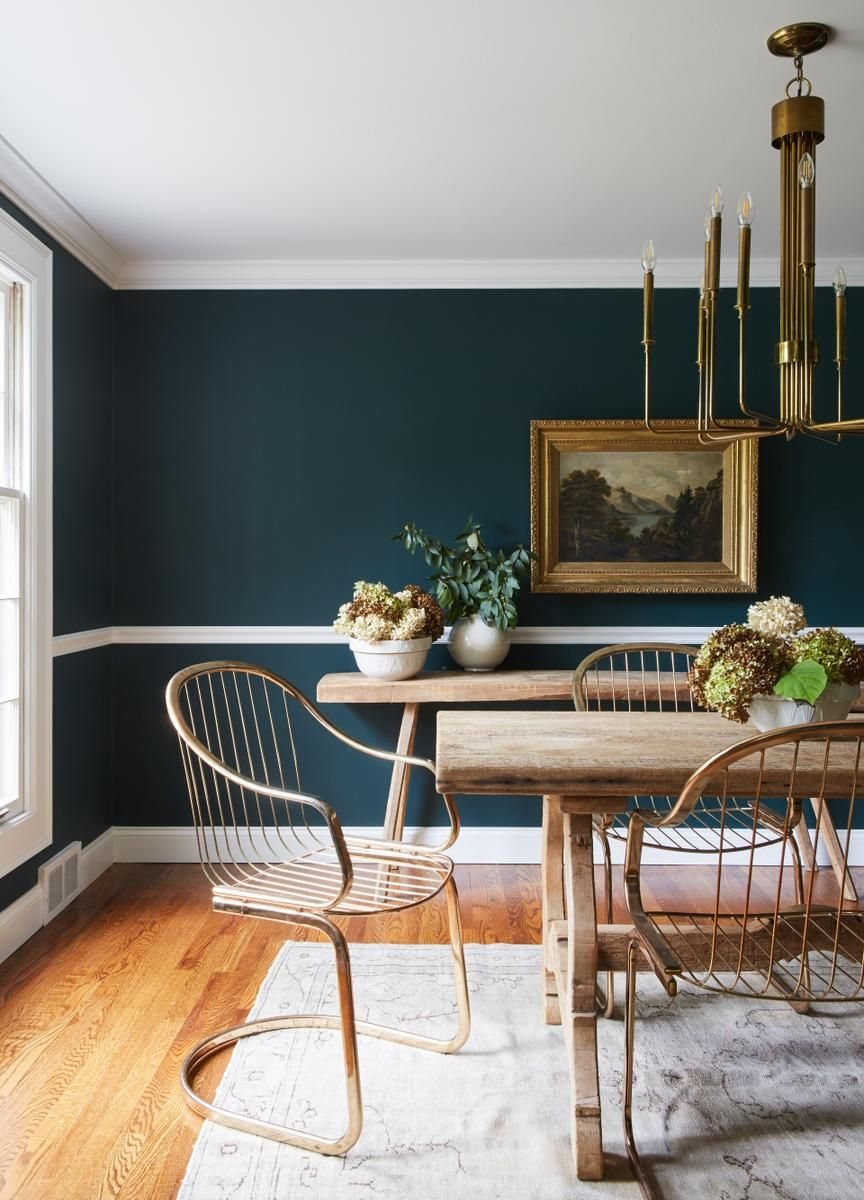 2019 Colors of the Year Blue dining room walls, Dining