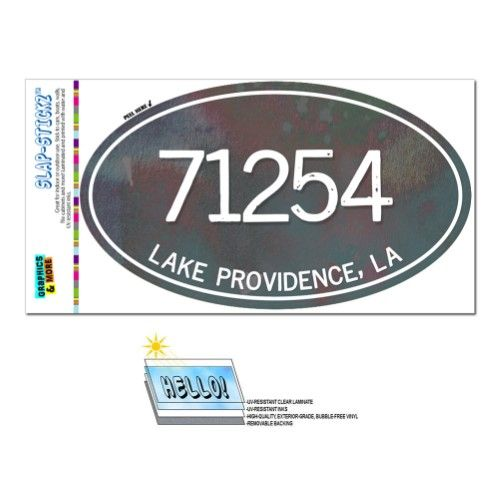 71254 Lake Providence La Unisex Metal Grey Oval Zip