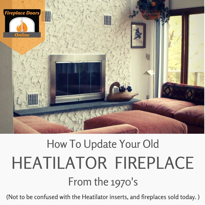 how to update your old mark series heatilator fireplace in 2019 rh pinterest com Dimplex Fireplace Inserts Heatilator Wood-Burning Fireplace Insert