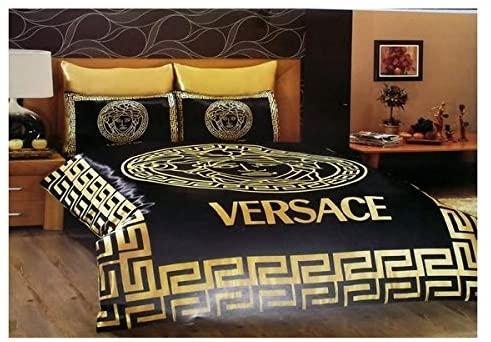 New Fashion Versace Quenn Size Duvet Cover Set Comforter Cover Satin 6 Pcs Bedding Amazon Ca Home Kitchen In 2021 Satin Bedding Designer Bed Sheets Versace Bedding