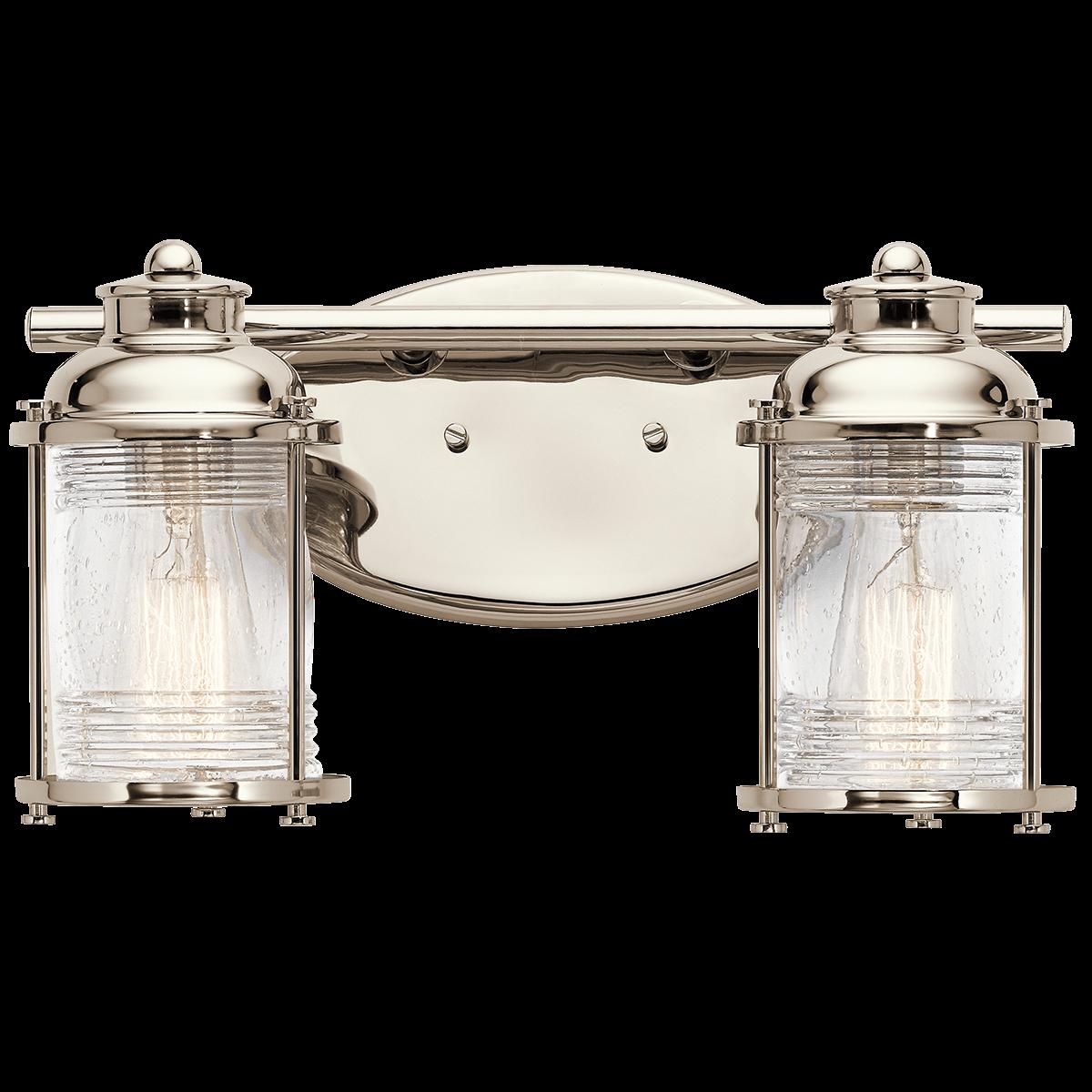 nautical bathroom lights. Ashland Bay 2 Light Bath In Polished Nickel (PN) Nautical Bathroom Lights