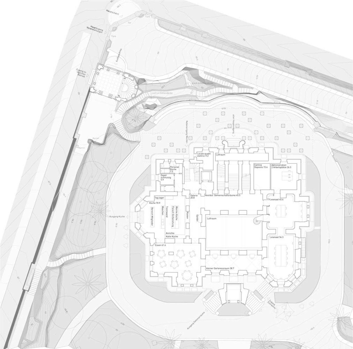 Suche Architekten bosshard vaquer architekten restrukturierung villa maraini rom