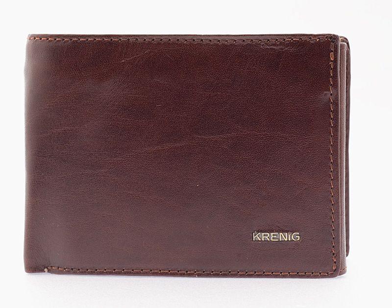 Genuine real leather mens brown wallet el dorado