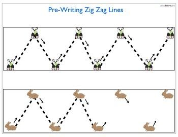 Pre-Writing Worksheets for ages 2-4. Zig zags, shapes, etc | Pre-K ...