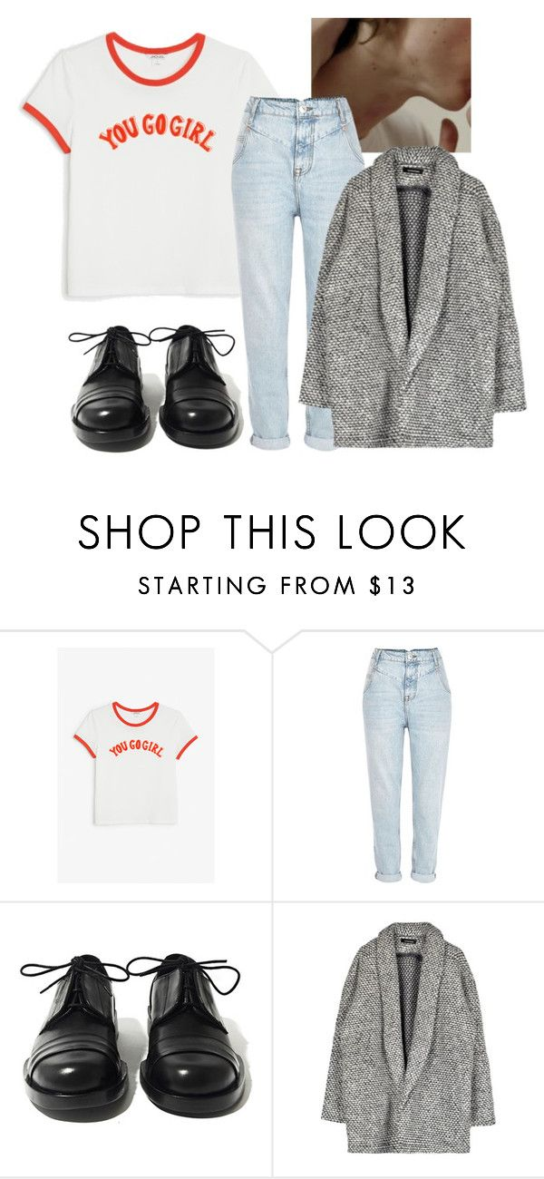 """""""3191"""" by ohfkthis ❤ liked on Polyvore featuring Monki, River Island and Achilles Ion Gabriel"""