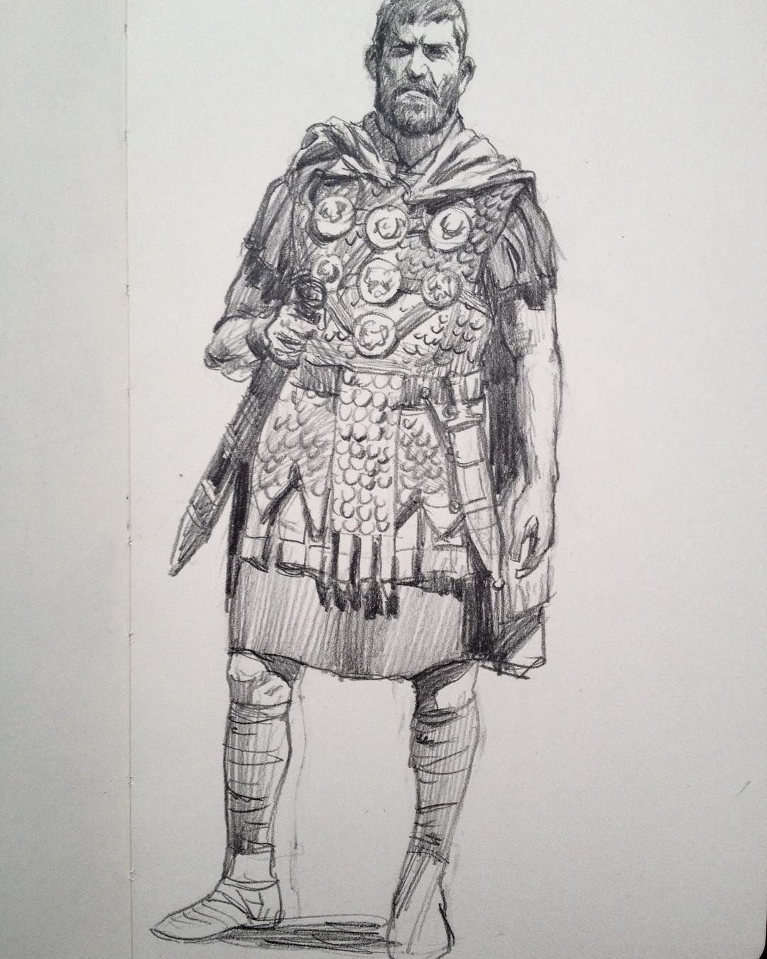 how to draw a roman soldier