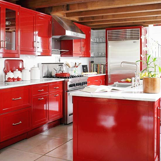 Over 30 Colorful Kitchens Kitchens, Kitchen decor and Small house