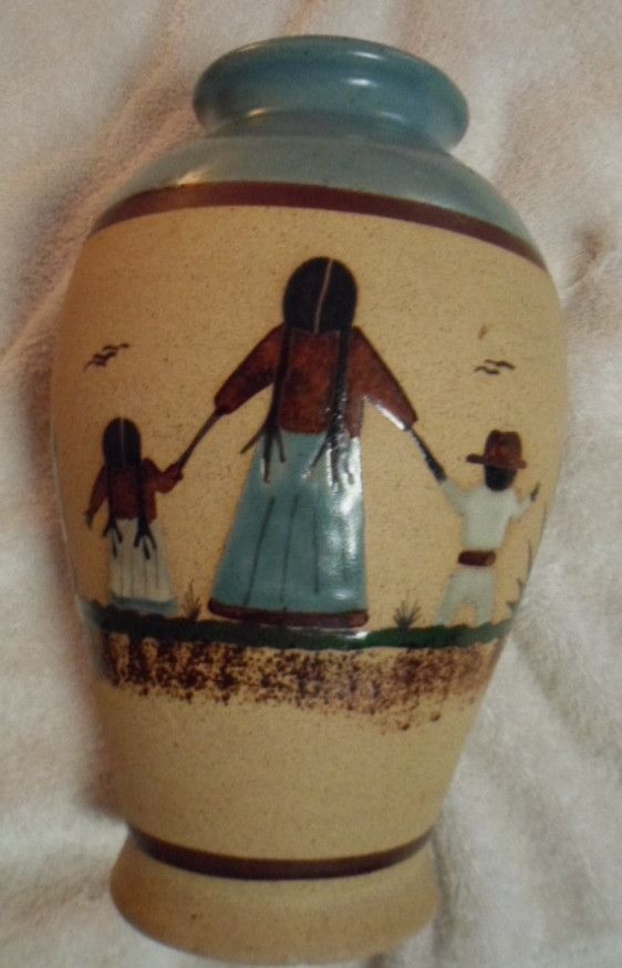 Indian Design Painted and Glazed Southwest Pottery-USA 16102525m