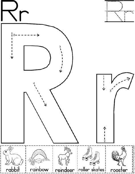 alphabet letter r worksheet standard block font preschool printable activity savings. Black Bedroom Furniture Sets. Home Design Ideas